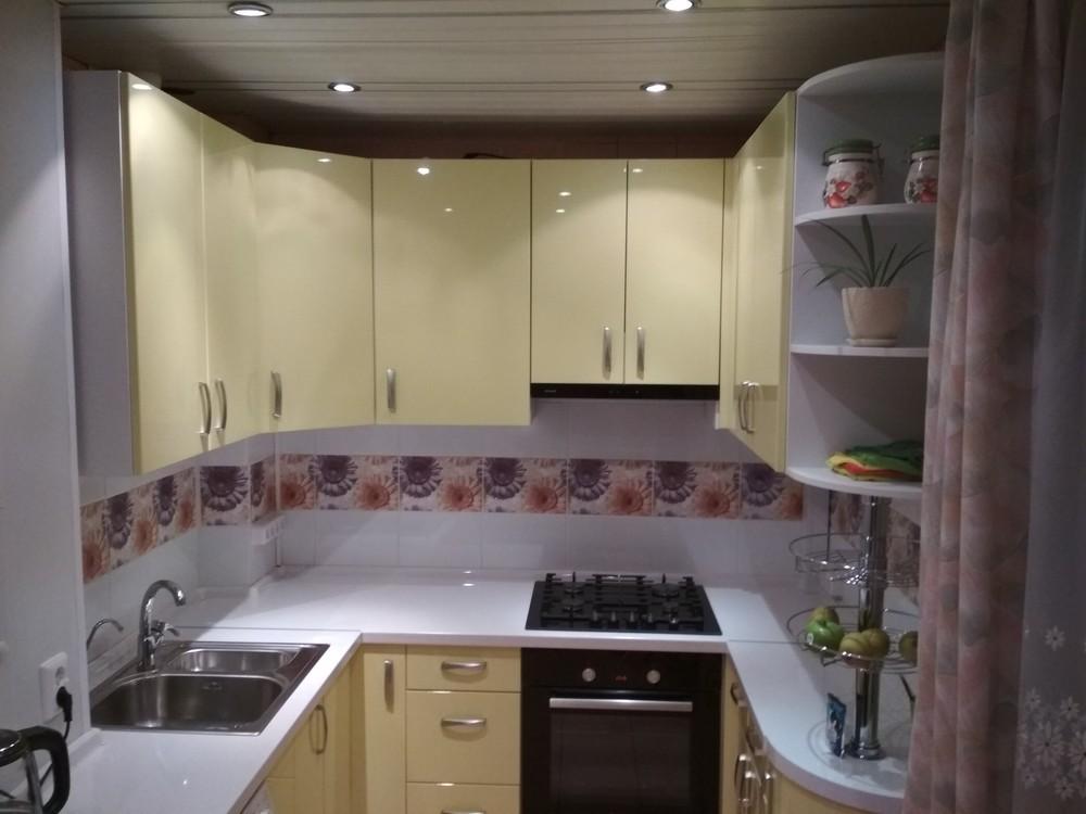 Встроенная кухня-Кухня МДФ в ПВХ «Модель 184»-фото2