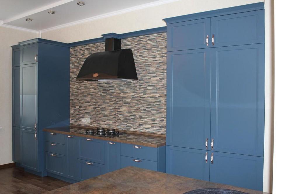 Встроенная кухня-Кухня МДФ в эмали «Модель 155»-фото1