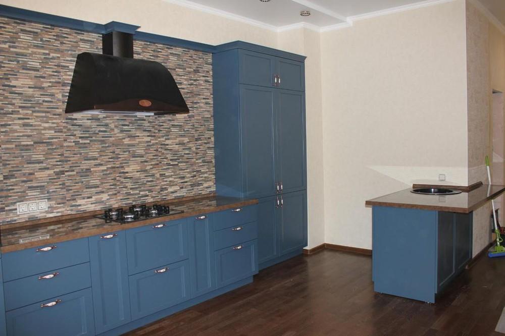 Встроенная кухня-Кухня МДФ в эмали «Модель 155»-фото2