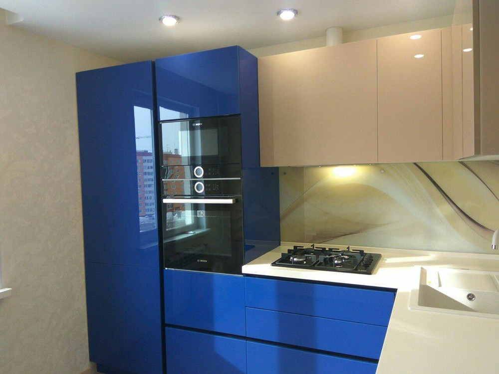 Акриловые кухни-Кухня МДФ в эмали «Модель 164»-фото3