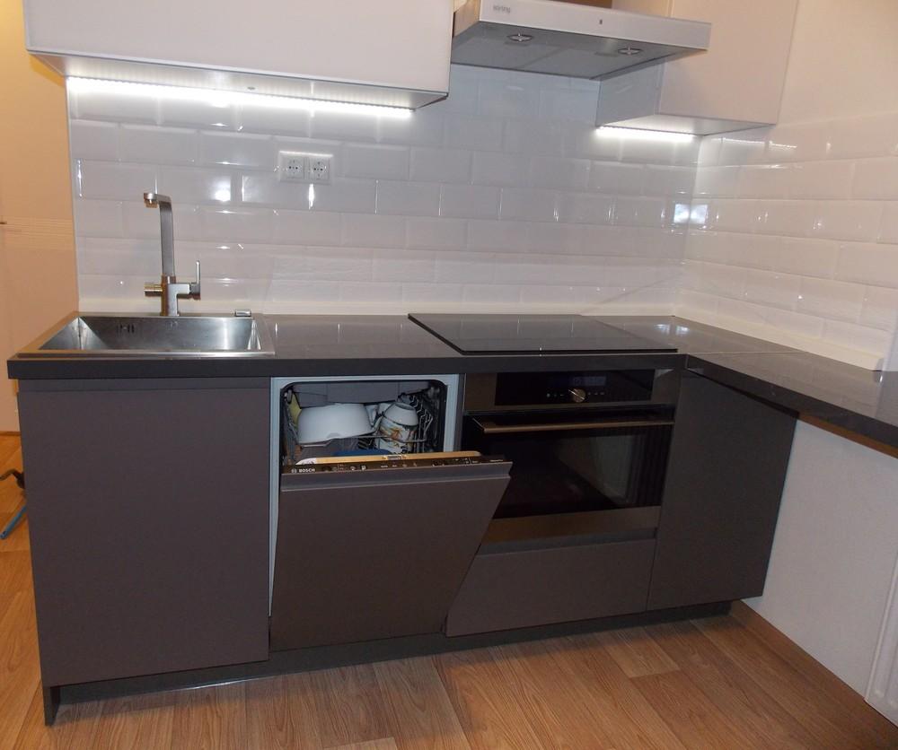 Акриловые кухни-Кухня МДФ в эмали «Модель 182»-фото3
