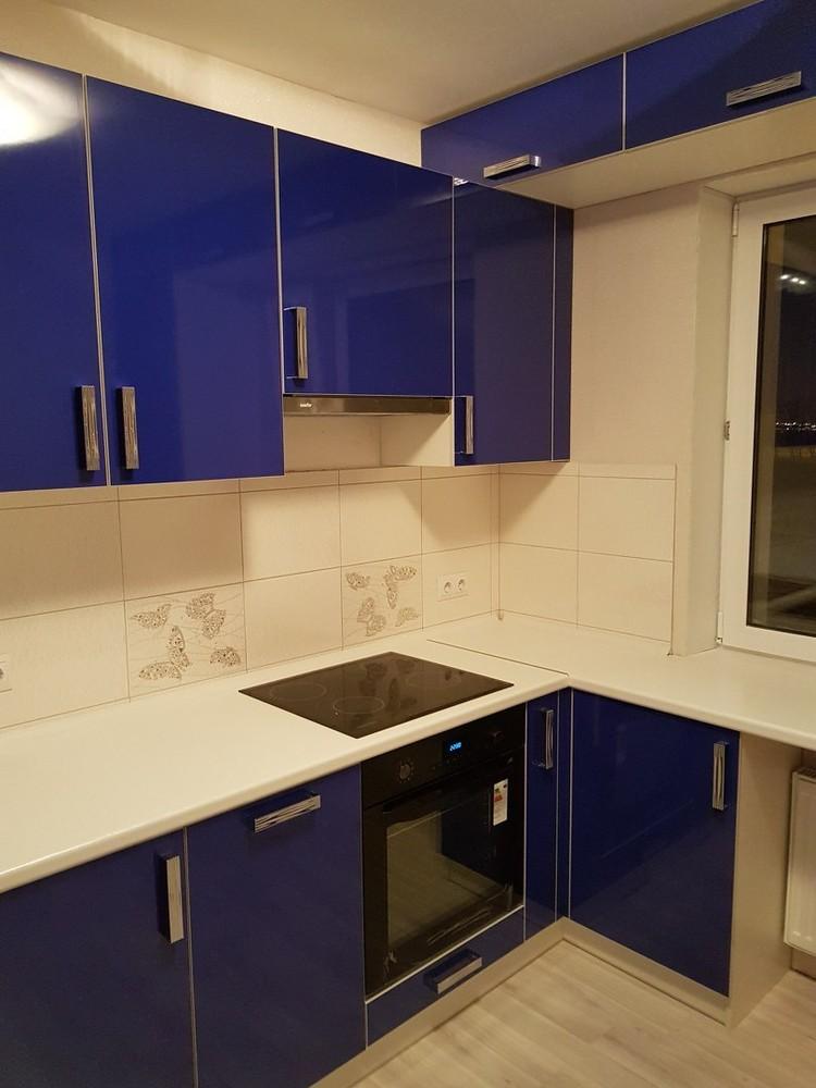 Акриловые кухни-Кухня из пластика «Модель 130»-фото1