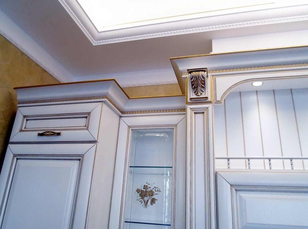 Белый кухонный гарнитур-Кухня из массива «Модель 152»-фото5