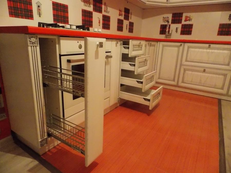Белый кухонный гарнитур-Кухня из шпона «Модель 13»-фото3