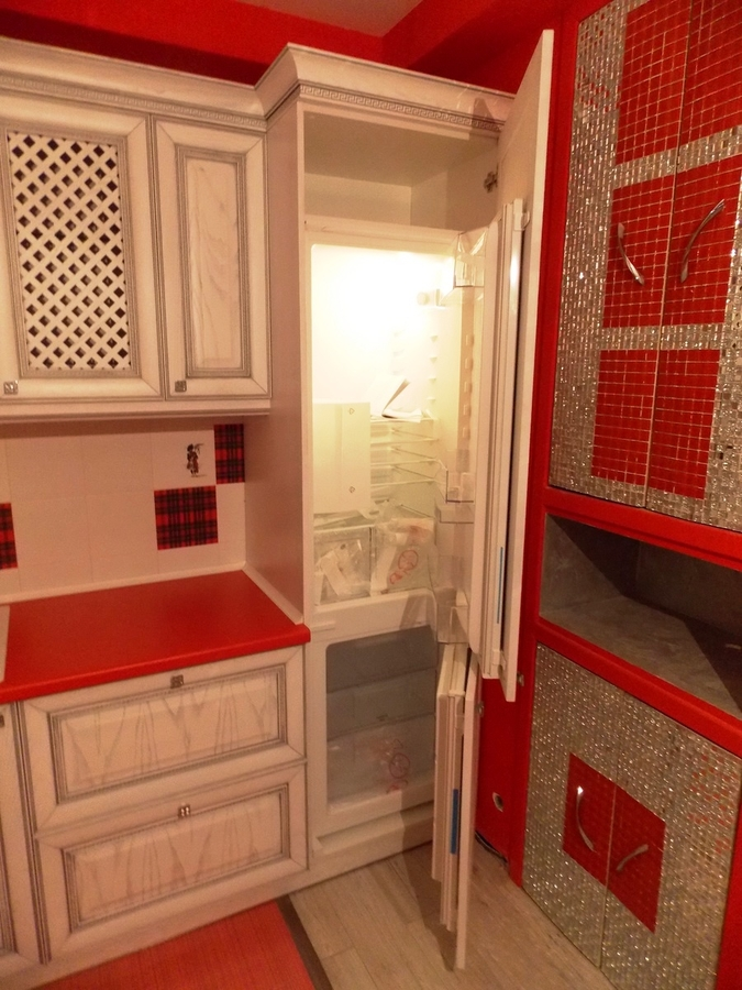 Белый кухонный гарнитур-Кухня из шпона «Модель 13»-фото4