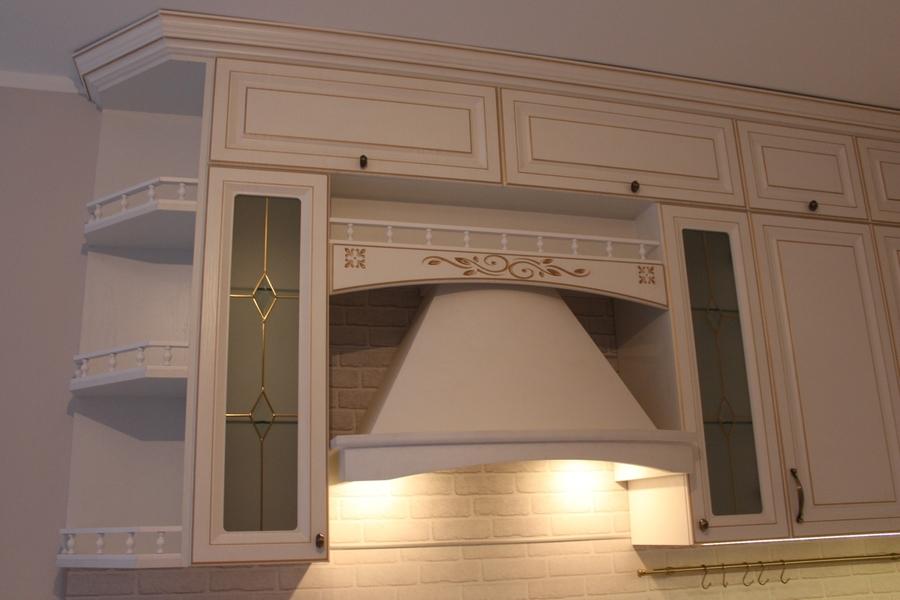 Белый кухонный гарнитур-Кухня МДФ в ПВХ «Модель 39»-фото6
