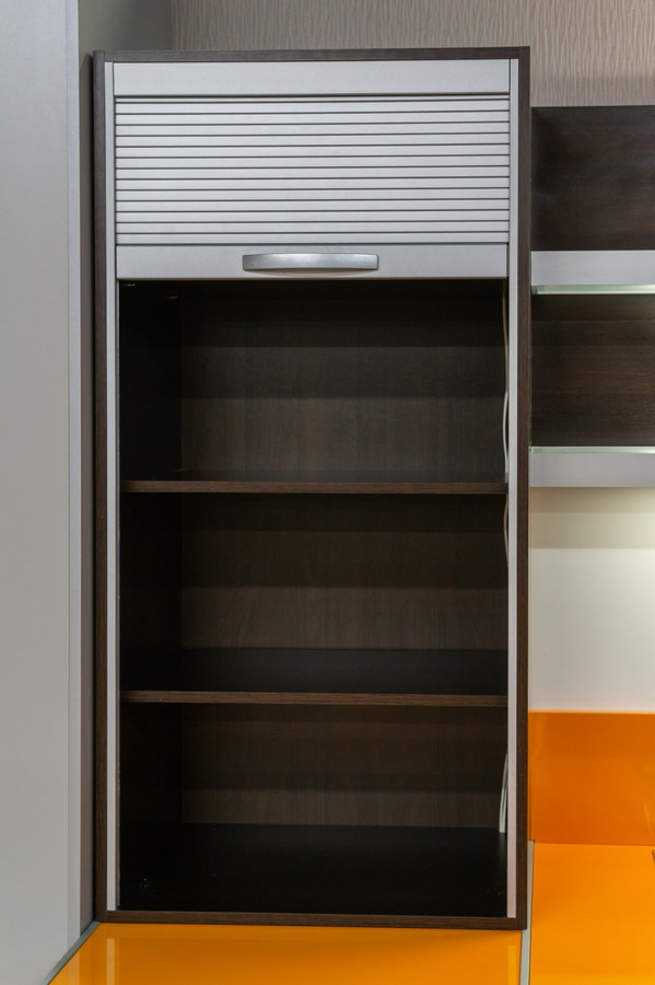Белый кухонный гарнитур-Кухня МДФ в ПВХ «Модель 44»-фото3