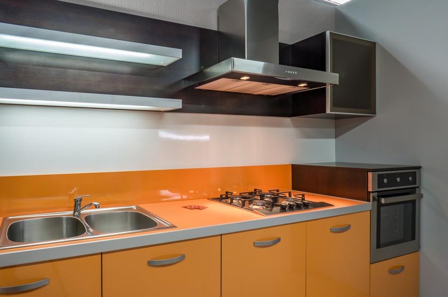 Белый кухонный гарнитур-Кухня МДФ в ПВХ «Модель 44»-фото2