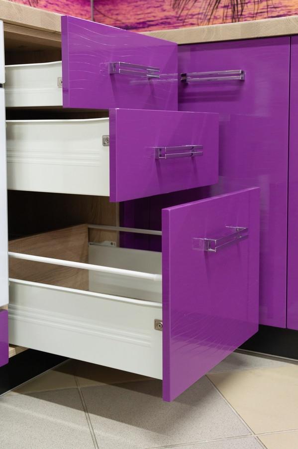 Белый кухонный гарнитур-Кухня МДФ в ПВХ «Модель 45»-фото6