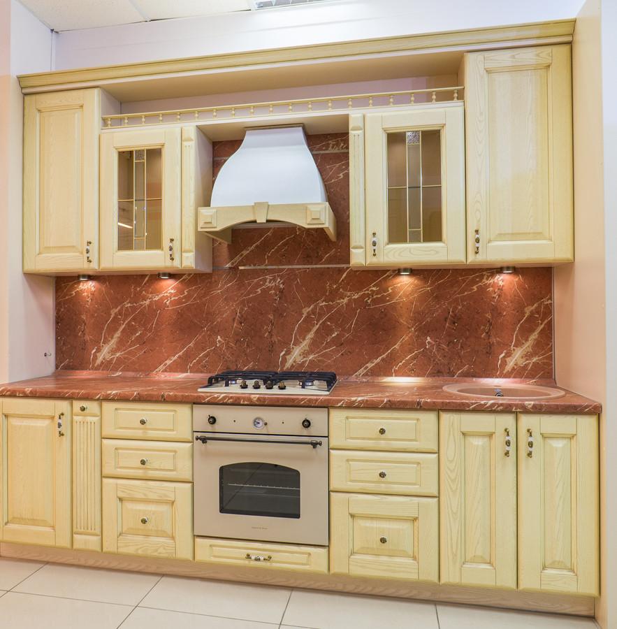 Белый кухонный гарнитур-Кухня из массива «Модель 57»-фото1