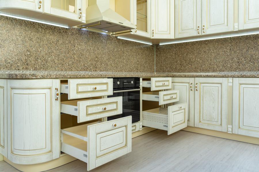 Белый кухонный гарнитур-Кухня МДФ в пластике «Модель 50»-фото5