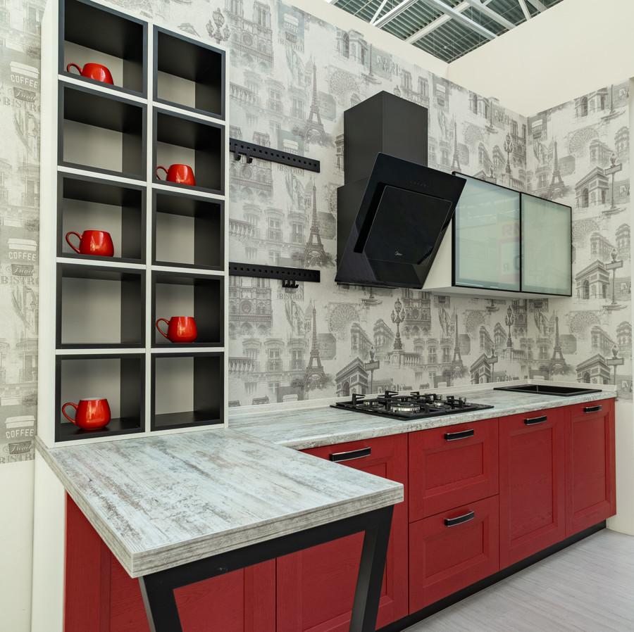 Белый кухонный гарнитур-Кухня МДФ в ПВХ «Модель 51»-фото3