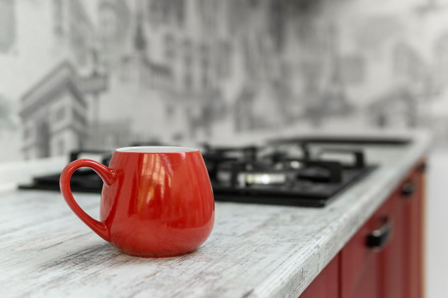 Белый кухонный гарнитур-Кухня МДФ в ПВХ «Модель 51»-фото9