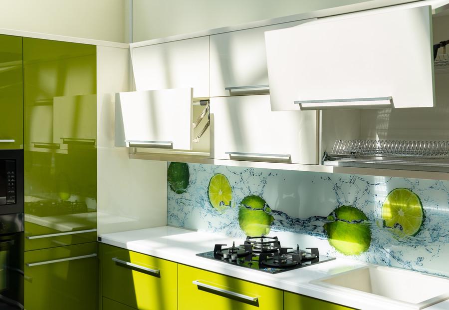 Белый кухонный гарнитур-Кухня МДФ в ПВХ «Модель 53»-фото3