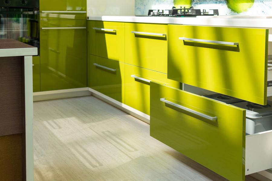 Белый кухонный гарнитур-Кухня МДФ в ПВХ «Модель 53»-фото4