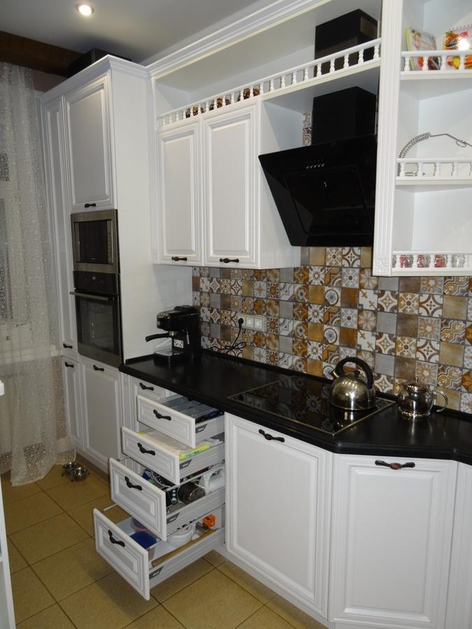Встроенная кухня-Кухня МДФ в эмали «Модель 20»-фото7