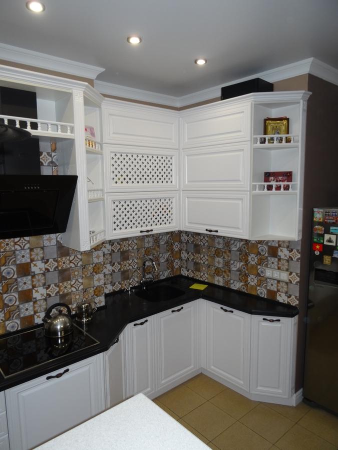Встроенная кухня-Кухня МДФ в эмали «Модель 20»-фото6
