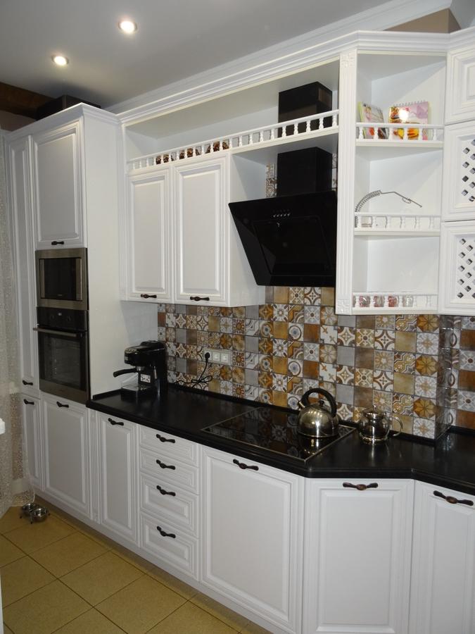 Встроенная кухня-Кухня МДФ в эмали «Модель 20»-фото4