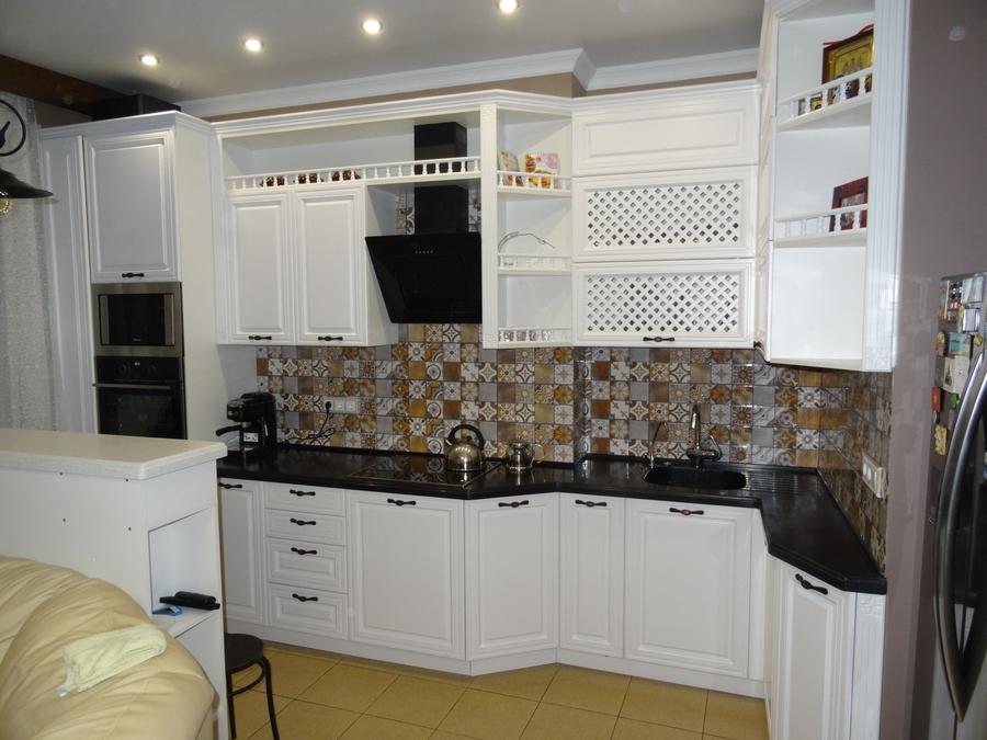 Встроенная кухня-Кухня МДФ в эмали «Модель 20»-фото1