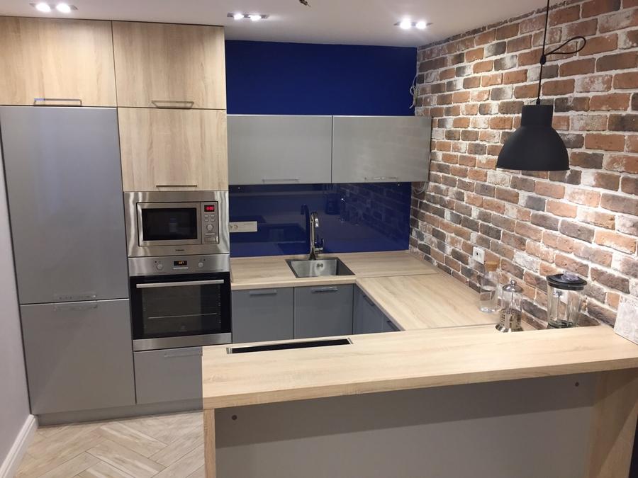 Встроенная кухня-Кухня МДФ в ПВХ «Модель 59»-фото1