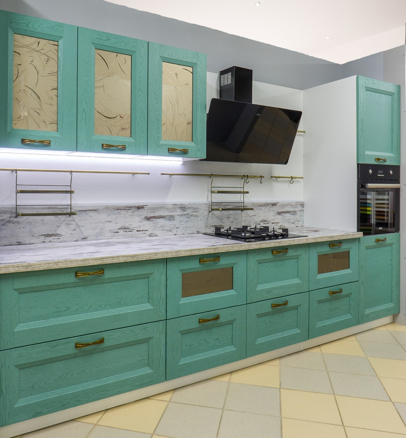Белый кухонный гарнитур-Кухня из массива «Модель 46»-фото1