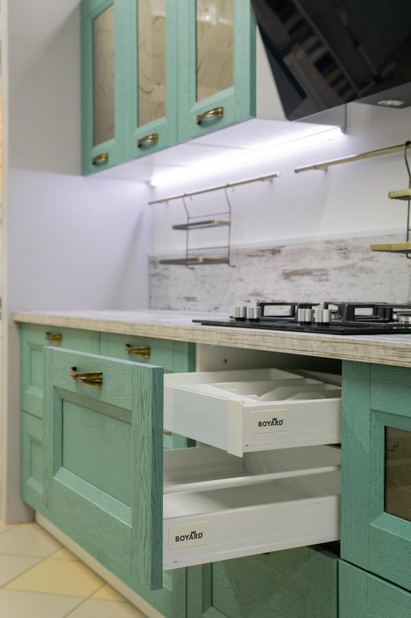 Белый кухонный гарнитур-Кухня из массива «Модель 46»-фото4