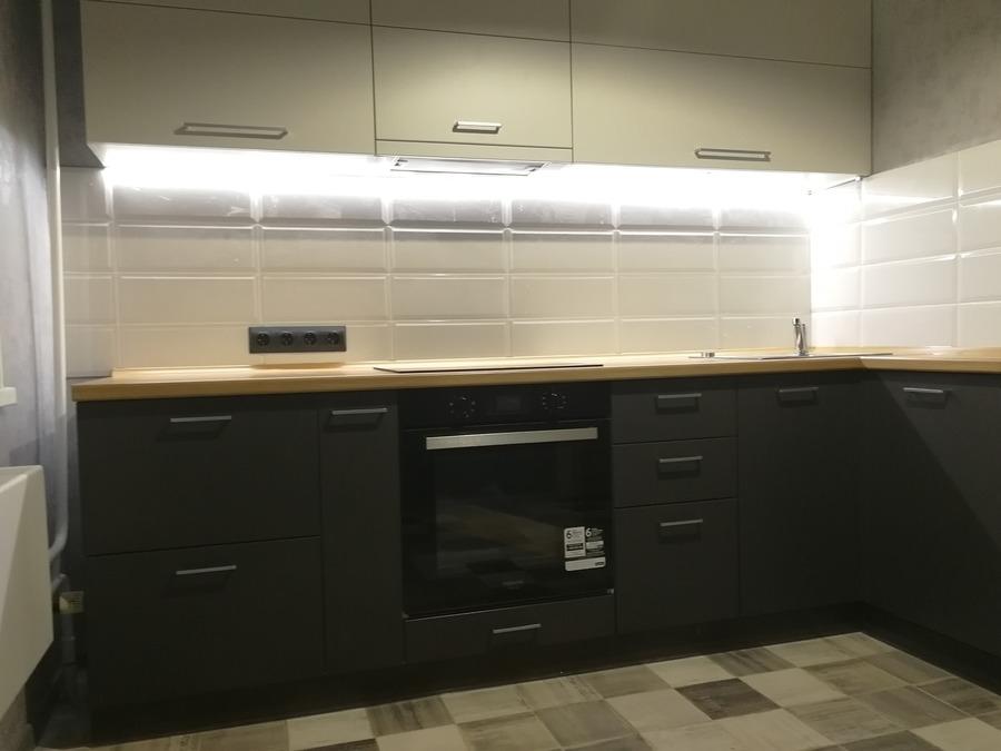 Купить зеленую кухню-Кухня МДФ в пластике «Модель 19»-фото1