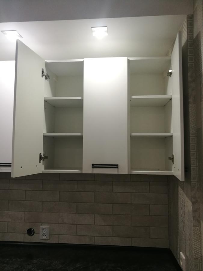 Белый кухонный гарнитур-Кухня МДФ в ПВХ «Модель 30»-фото5