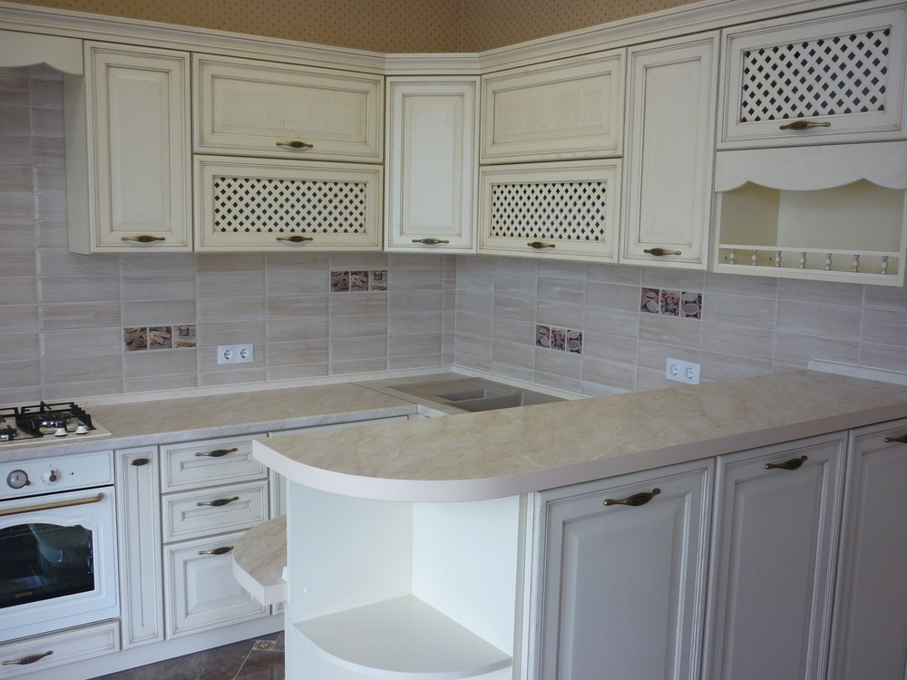 Акриловые кухни-Кухня МДФ в ПВХ «Модель 293»-фото4