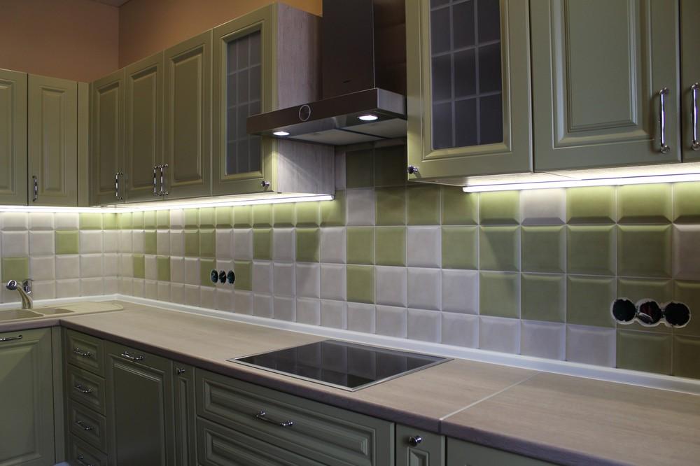 Встроенная кухня-Кухня МДФ в ПВХ «Модель 91»-фото4