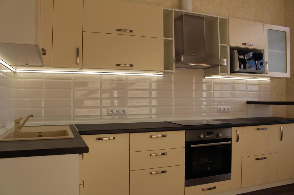 Акриловые кухни-Кухня МДФ в ПВХ «Модель 305»-фото1