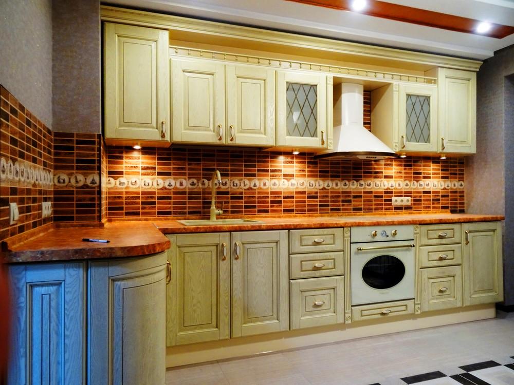 Белый кухонный гарнитур-Кухня МДФ в эмали «Модель 301»-фото2
