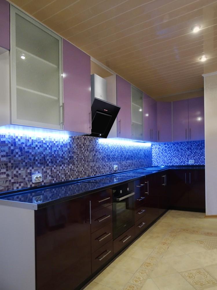 Встроенная кухня-Кухня МДФ в ПВХ «Модель 296»-фото2