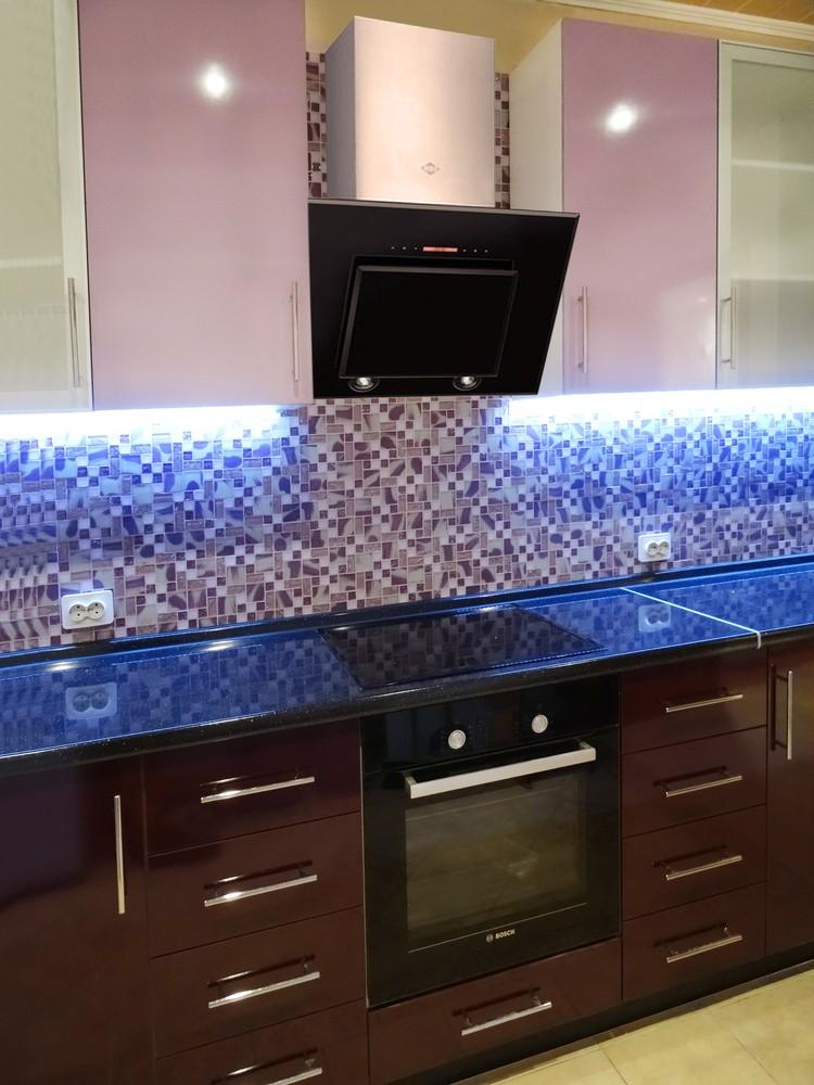 Встроенная кухня-Кухня МДФ в ПВХ «Модель 296»-фото3