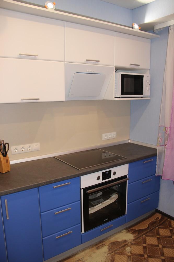 Встроенная кухня-Кухня МДФ в ПВХ «Модель 356»-фото2