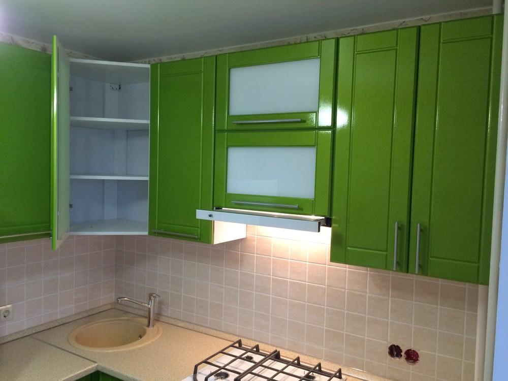 Встроенная кухня-Кухня МДФ в эмали «Модель 309»-фото5