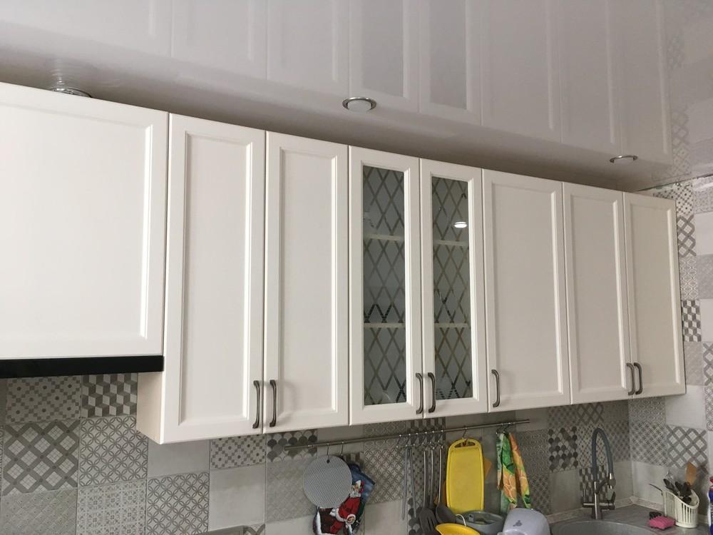 Белый кухонный гарнитур-Кухня МДФ в эмали «Модель 321»-фото6