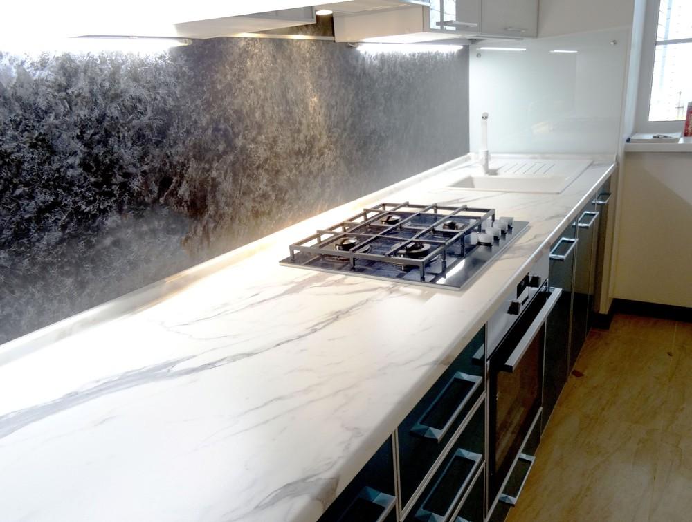 Встроенная кухня-Кухня МДФ в ПВХ «Модель 296»-фото4