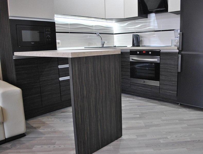 Белый кухонный гарнитур-Кухня из ЛДСП «Модель 453»-фото2