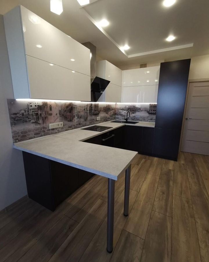 Белый кухонный гарнитур-Кухня МДФ в пленке ПВХ «Модель 93»-фото5