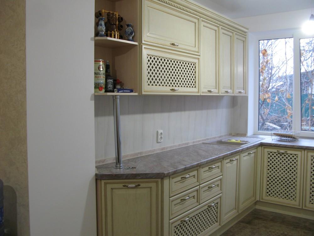 Белый кухонный гарнитур-Кухня МДФ в ПВХ «Модель 273»-фото1