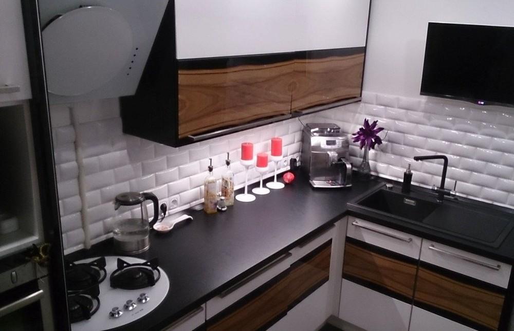 Встроенная кухня-Кухня МДФ в ПВХ «Модель 258»-фото1