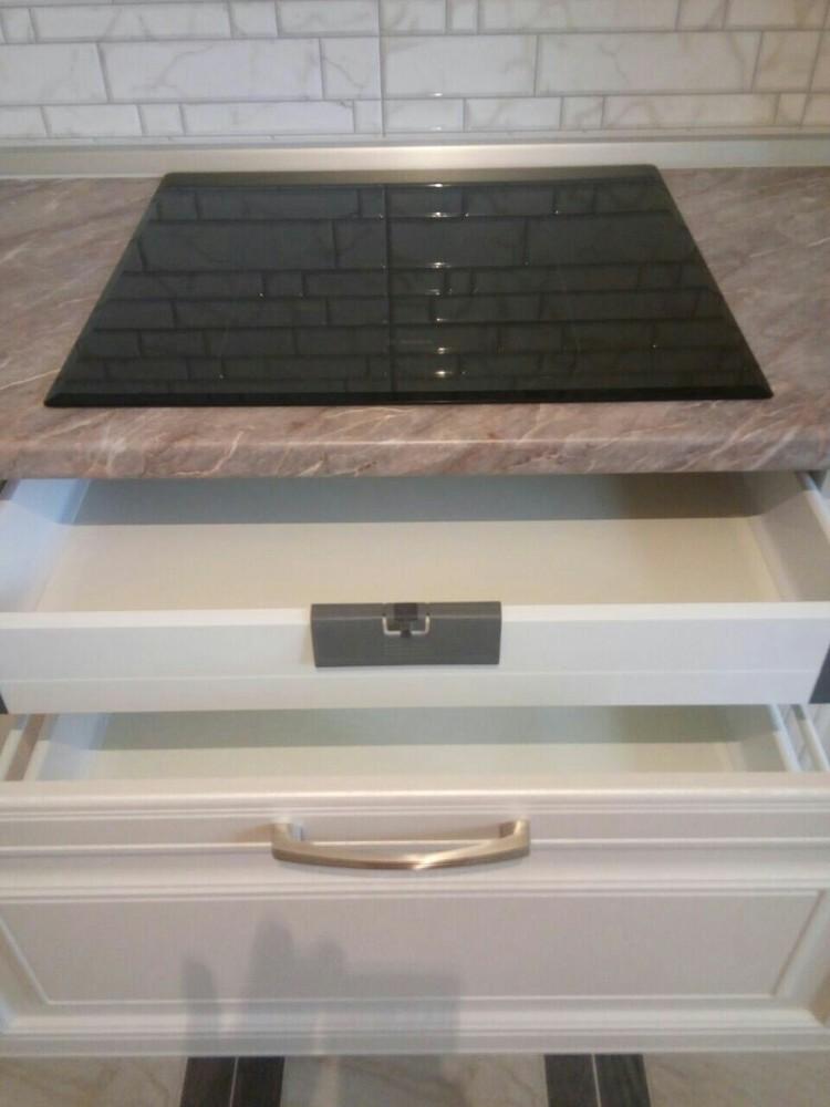 Белый кухонный гарнитур-Кухня МДФ в ПВХ «Модель 228»-фото3