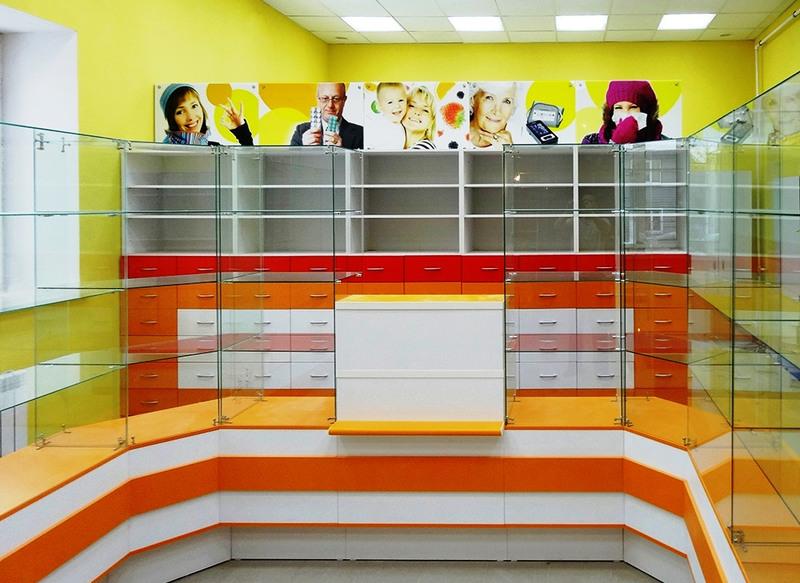 Торговая мебель-Мебель для аптеки «Модель 191»-фото3