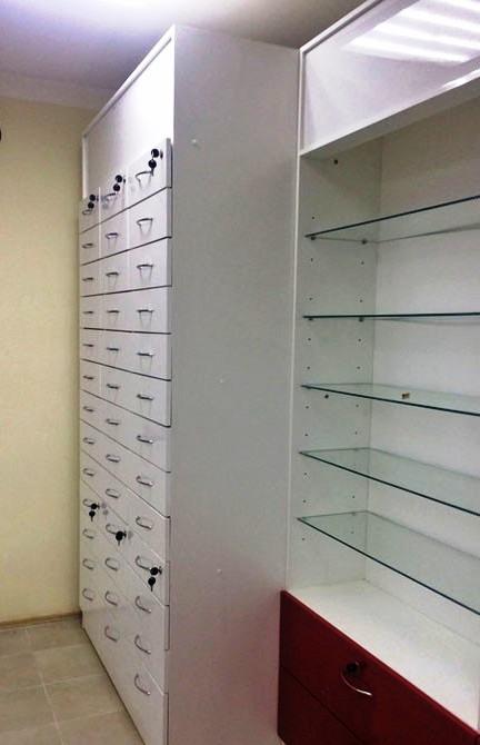 Торговая мебель-Мебель для аптеки «Модель 184»-фото1