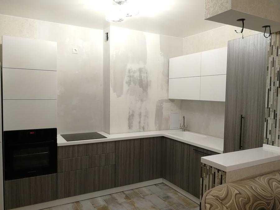 Кухни на заказ-Кухня МДФ в ПВХ «Модель 348»-фото2