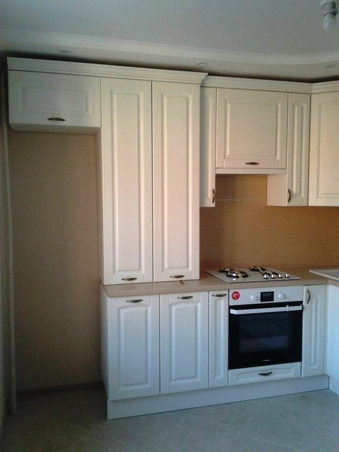 Белый кухонный гарнитур-Кухня МДФ в ПВХ «Модель 387»-фото2