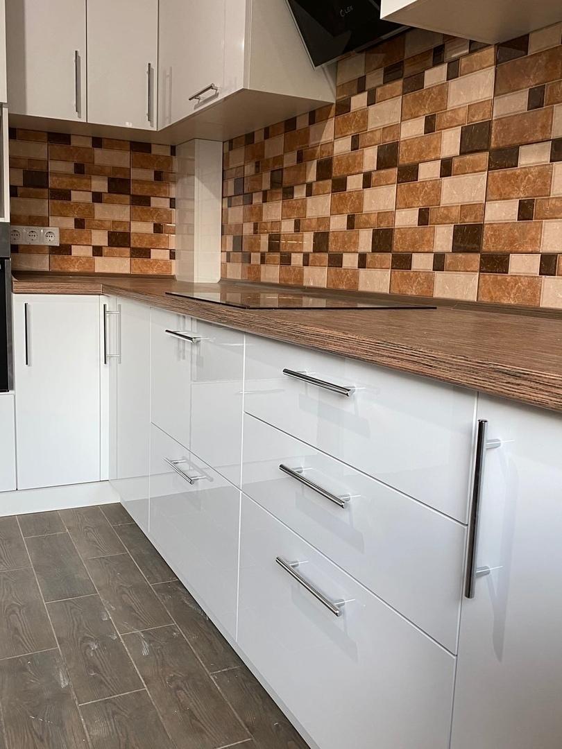 Белый кухонный гарнитур-Кухня МДФ в ПВХ «Модель 568»-фото4