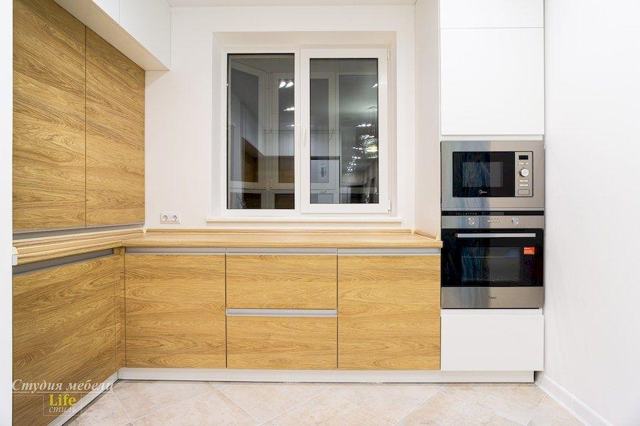 Белый кухонный гарнитур-Кухня МДФ в эмали «Модель 556»-фото4