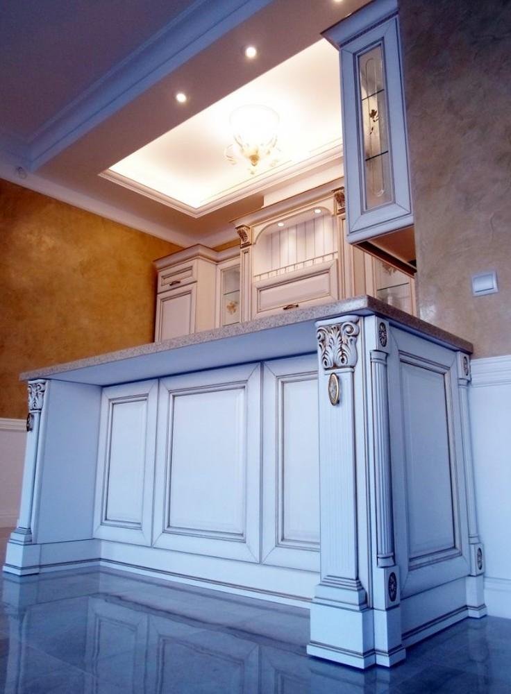 Белый кухонный гарнитур-Кухня из массива «Модель 152»-фото9